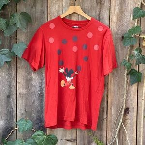 Uniqlo Disney Mickey Mouse Men's Red Tee Shirt